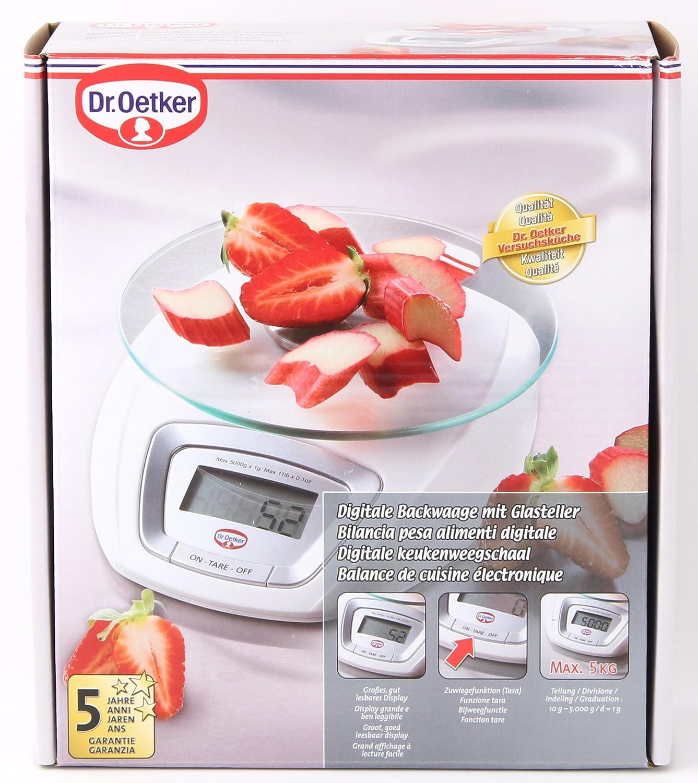 Dr. Oetker 1580 Küchenwaage Digital: Amazon.de: Küche & Haushalt