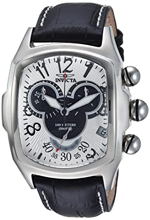2321e610193 Invicta Men s Disney Limited Edition Stainless Steel Quartz Watch with  Leather Calfskin Strap