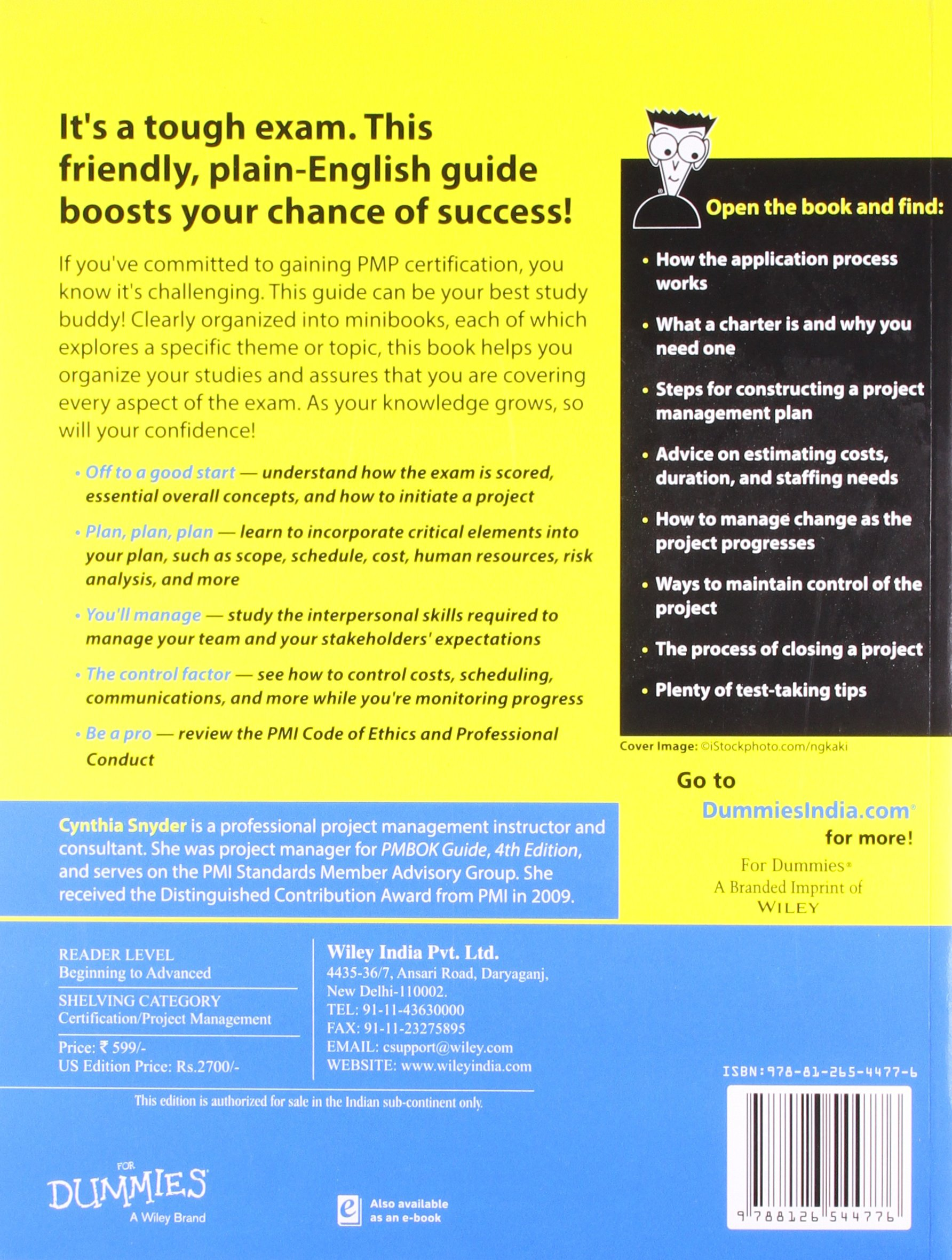 Pmp certification all in one for dummies cynthia snyder pmp certification all in one for dummies cynthia snyder 9788126544776 amazon books 1betcityfo Choice Image