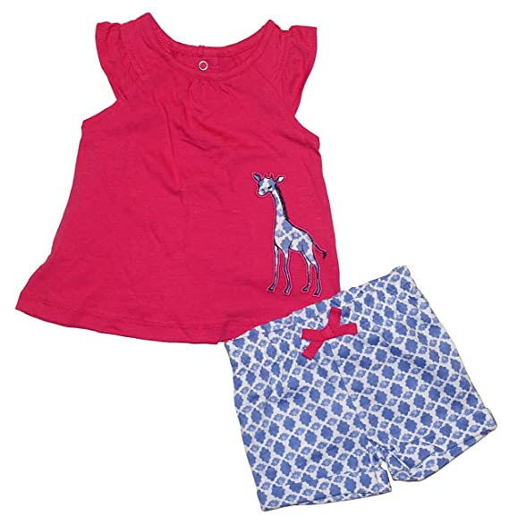 a1e0f1b42 Amazon.com  Carter s Giraffe 2 Piece Baby Girls Tank Top   Patterned ...