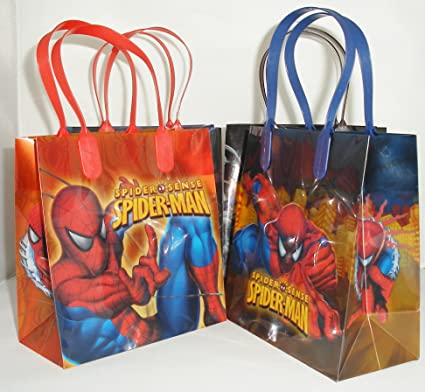 Amazoncom Spiderman Party Favor Goodie Small Gift Bags 12 Toys