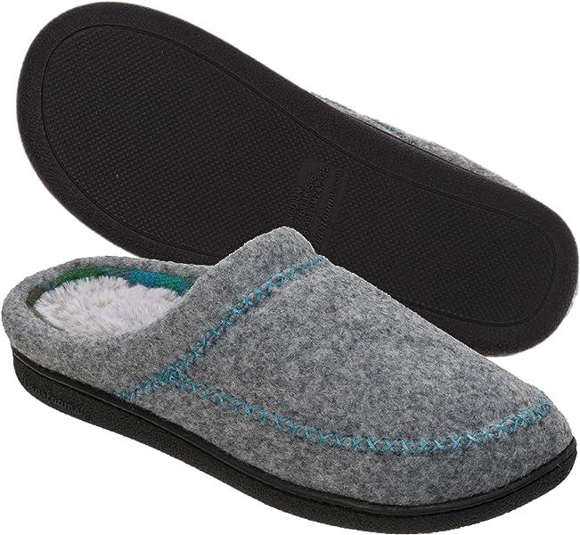 88bc0247dc6f Dearfoams Women s Felt X-Stitch Clog Slipper