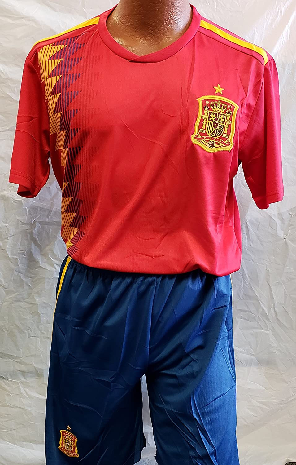 新しい。Spain National Teamロシア2018 Short and Jersey 2 pcサイズXLarge B07C6KFX5T