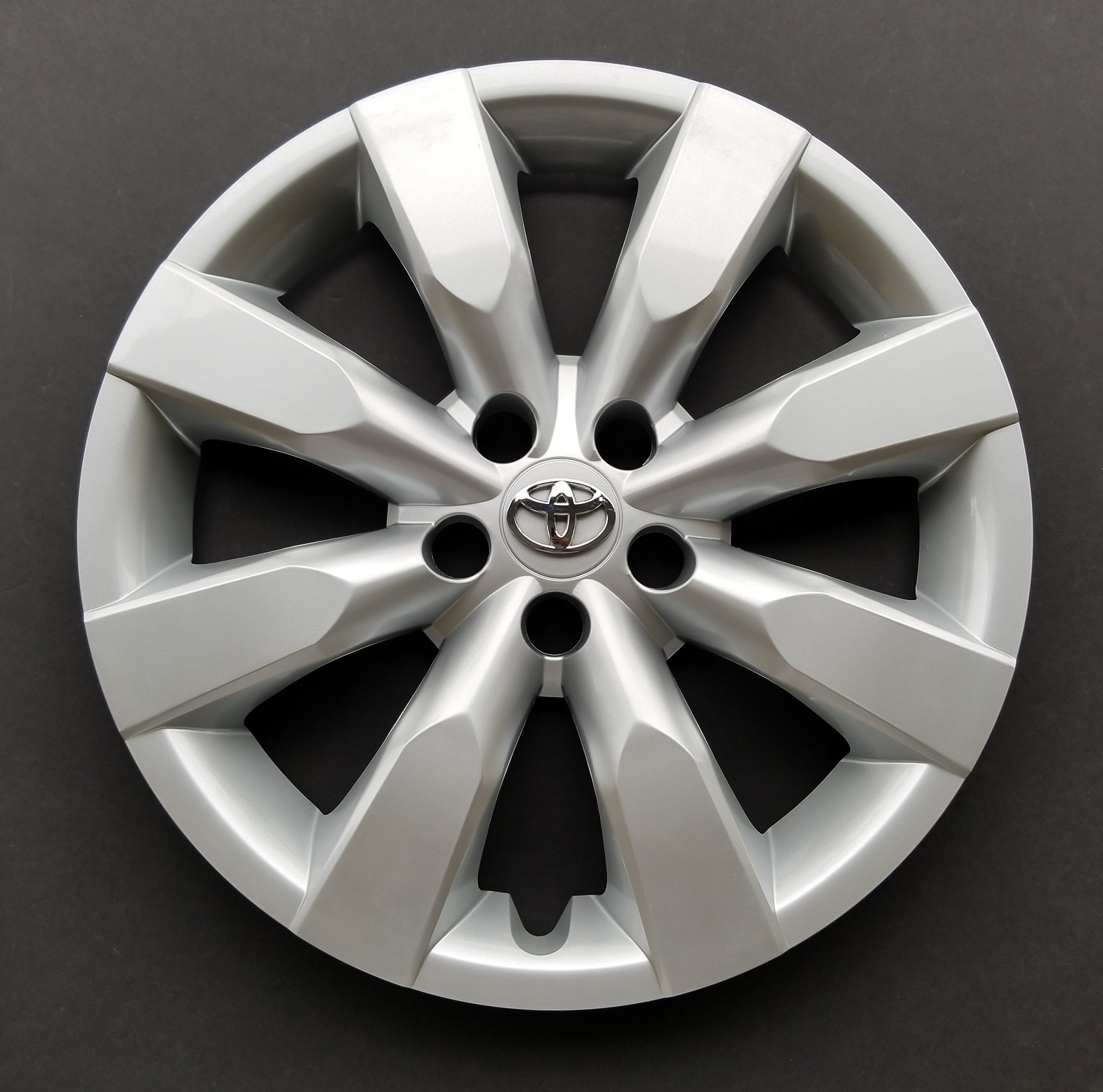 MARROW One New Replacement Fits 2014 2015 2016 Toyota Corolla Style 16'' Wheel Cover Hubcap,8 Spoke,Silver,Standard Leg