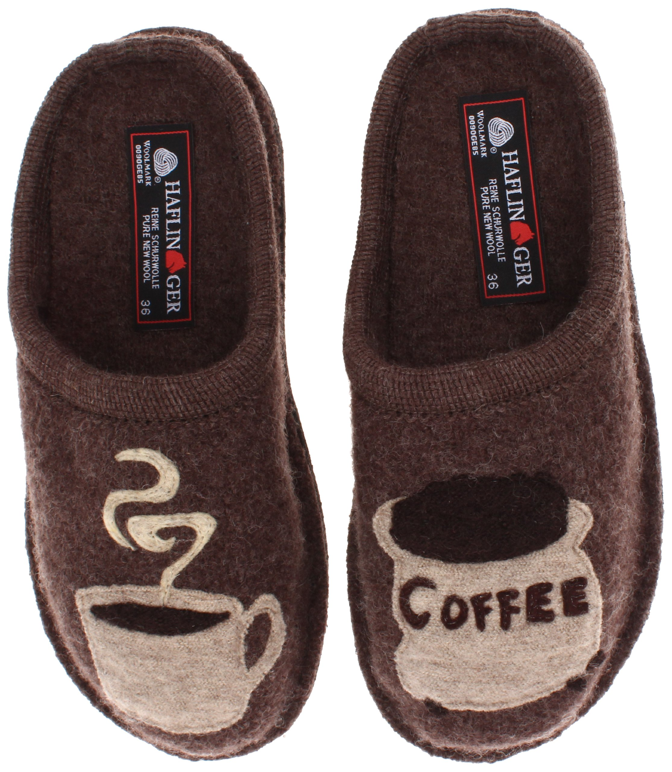 Haflinger Women's AR Coffee Earth Flat,40 EU/9 M US