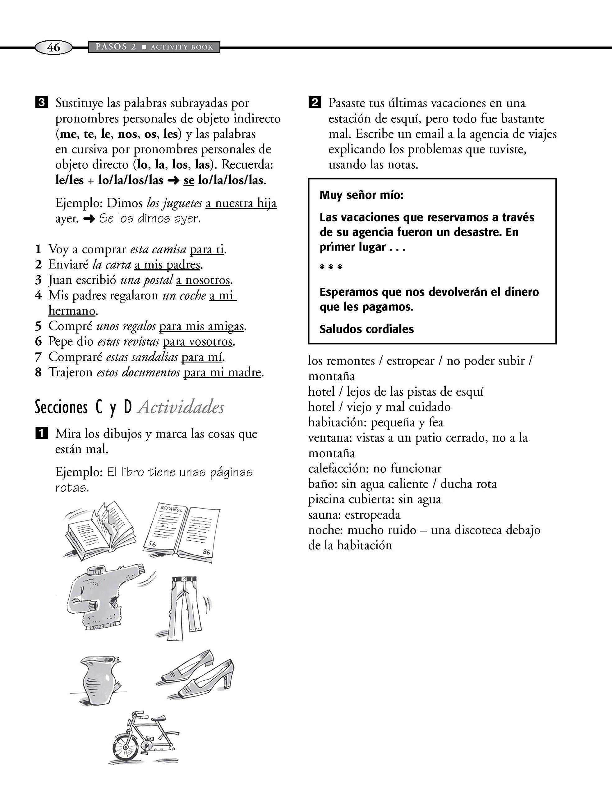 Pasos 2 Fourth Edition Spanish Intermediate Course: Activity Book: Amazon.es: Martyn Ellis, Rosa Maria Martin: Libros en idiomas extranjeros