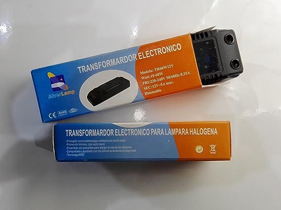 Alverlamp TR60W12V - Transformador regulable 60w: Amazon.es ...