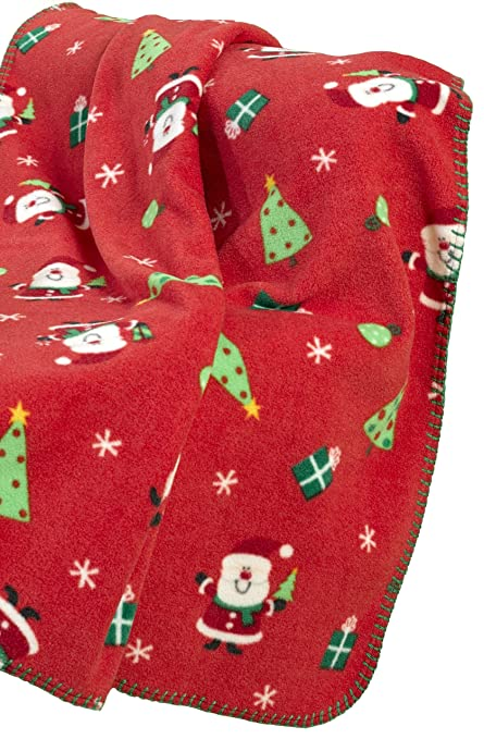 Cheap Price Christmas Festive Fleece Throw Winter Red Sofa Bed Blanket Polyester 120x150cm Blankets & Throws Home Décor