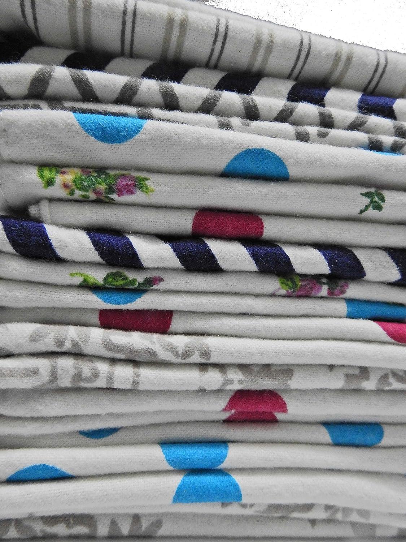 Wonder Care–reusable Baby wipes- 100% cotone flanella cloth- 2strati–ultra morbido–stampe a colori assortiti con free box- 12,7x 17,8cm pollici Surgifab trading Corp.