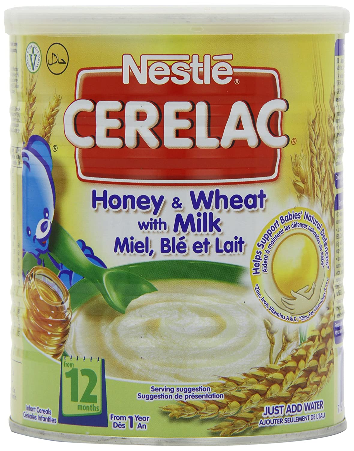 Nestle Cerelac From 12 Months Honey and Wheat with Milk 400 g (Pack of 4) DIMBL