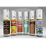 6 (Six) Al-Rehab 6ml Perfume Oils Best Sellers Set # 2: Balkis, Bakhour, Sabaya, Lovely, Sultan Al Oud and Jasmin