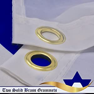 G128 – Israel (Israeli) Flag   3x5 feet   Printed – Vibrant Colors, Brass Grommets, Quality Polyester (Color: Israel, Tamaño: 3X5FT)