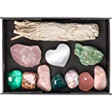 Premium Quality Crystals for Love and Relationships / 11 pc Crystal Healing Set - Rose Quartz, Pink Aventurine, Malachite, Pink Agate, Fuchsite, Pink Opal, Rhodonite & More + Info Guide/Gift Ready