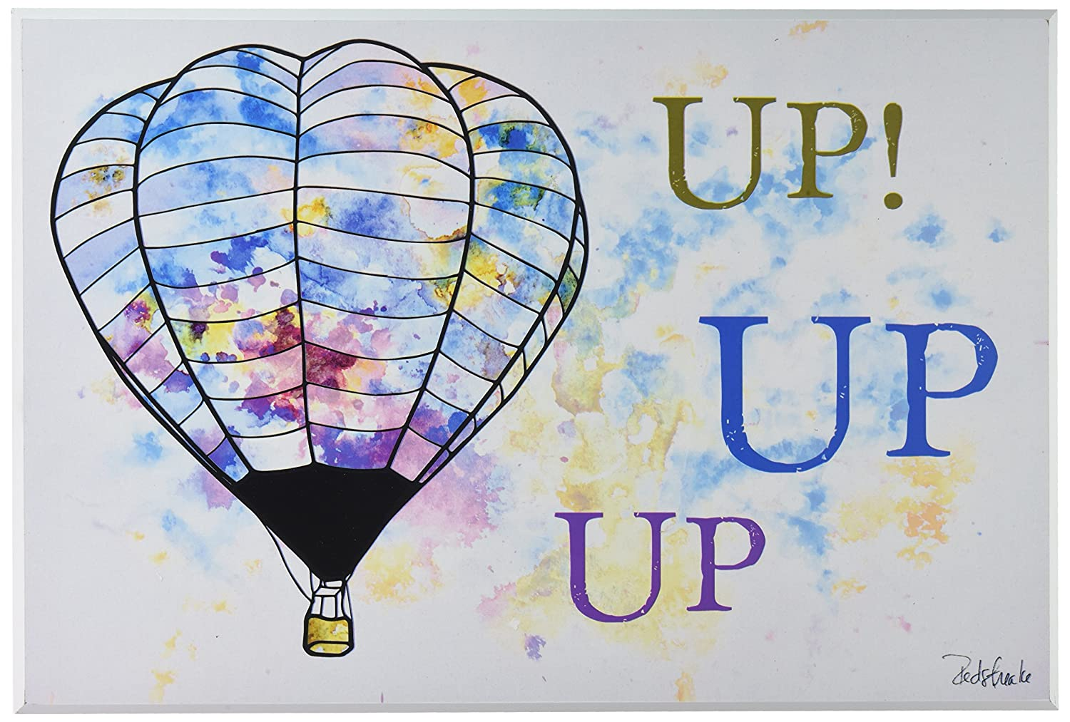 Proudly Made in USA 16 x 1.5 x 20 Stupell Home D/écor Watercolors Up Up Up Hot Air Balloons Stretched Canvas Wall Art