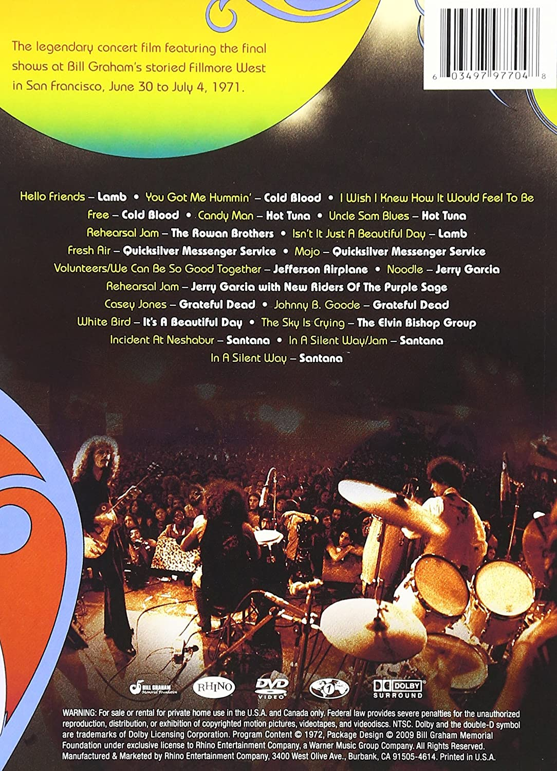 Amazon.com: Last Days of the Fillmore: Various Artists, Various: Movies & TV