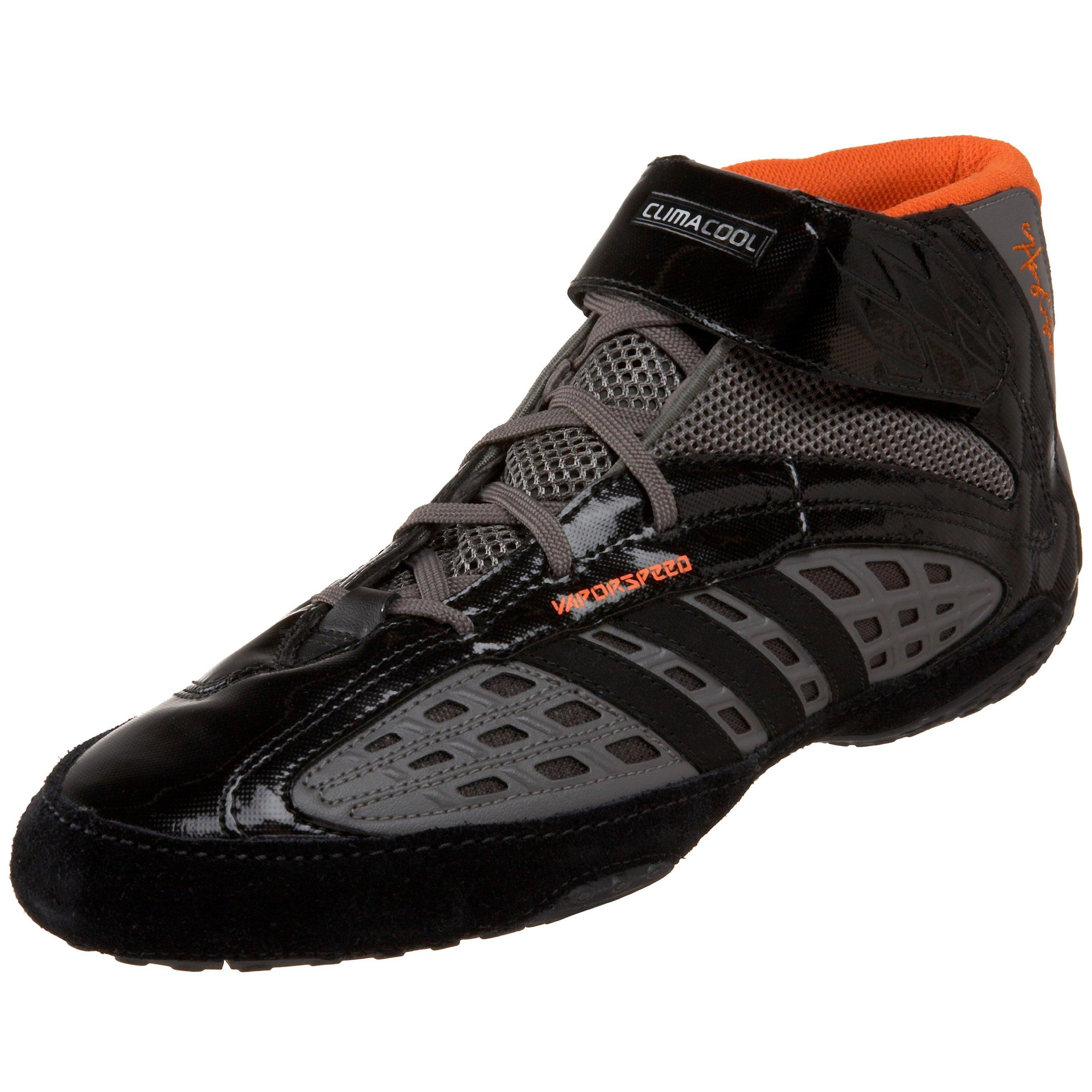 adidas Men's Vaporspeed II Henry Cejudo Wrestling Shoe,Iron/Black/Orange,12 M US