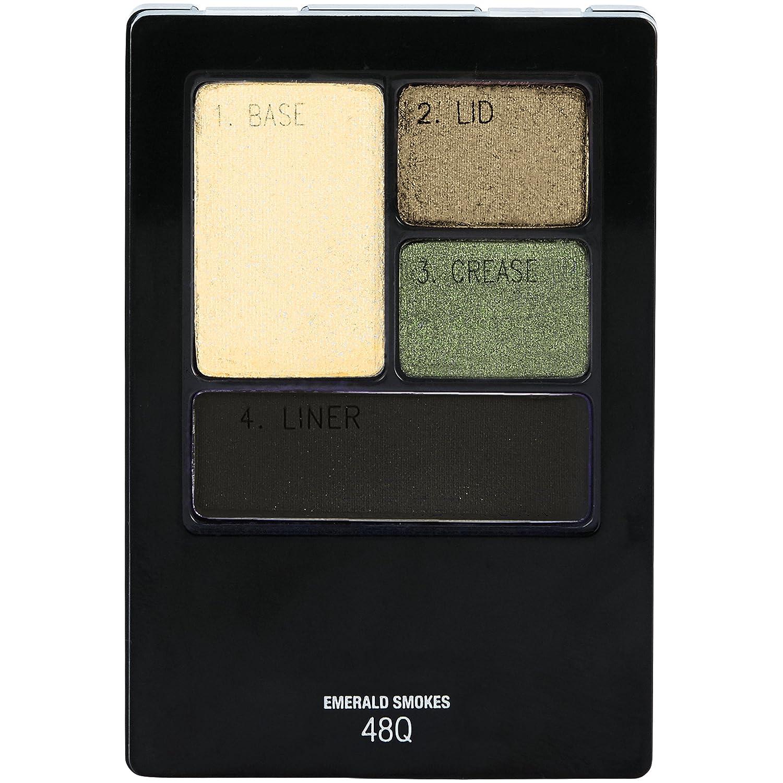 Maybelline New York Expert Wear Eyeshadow Quads, Emerald Smokes, 0.17 oz.