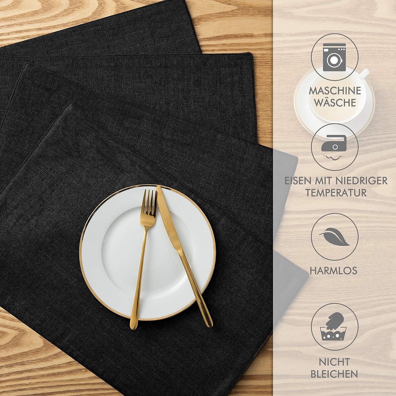 Subrtex Wasserdicht Leinen Tischset Abwischbar Gedruckt Blaumen Design Stoff Platzsets Platzsets Platzsets Rutschfest Abwaschbar Platzdeckchen (Azalee, 6er Set) B07LGSCGVK Platzsets 897a9d