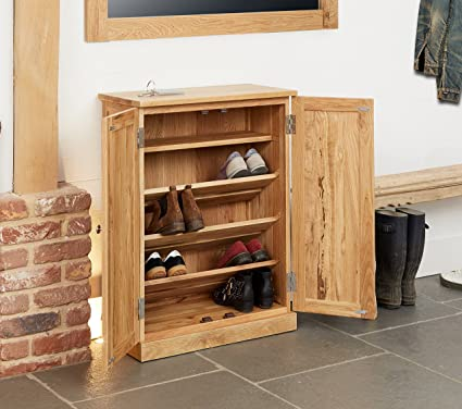 baumhaus mobel oak shoe cupboard