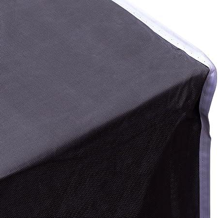 Purovi® Funda Protectora para Muebles de Jardín | 200 x 160 x 70 cm | Alta Protección | Gris Oscura: Amazon.es: Jardín