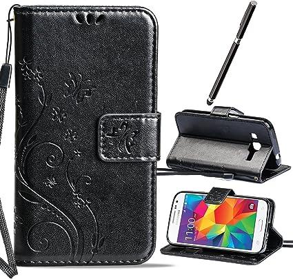 Nero Ecopelle Snap Coin Portafoglio con carta di credito e contanti slot