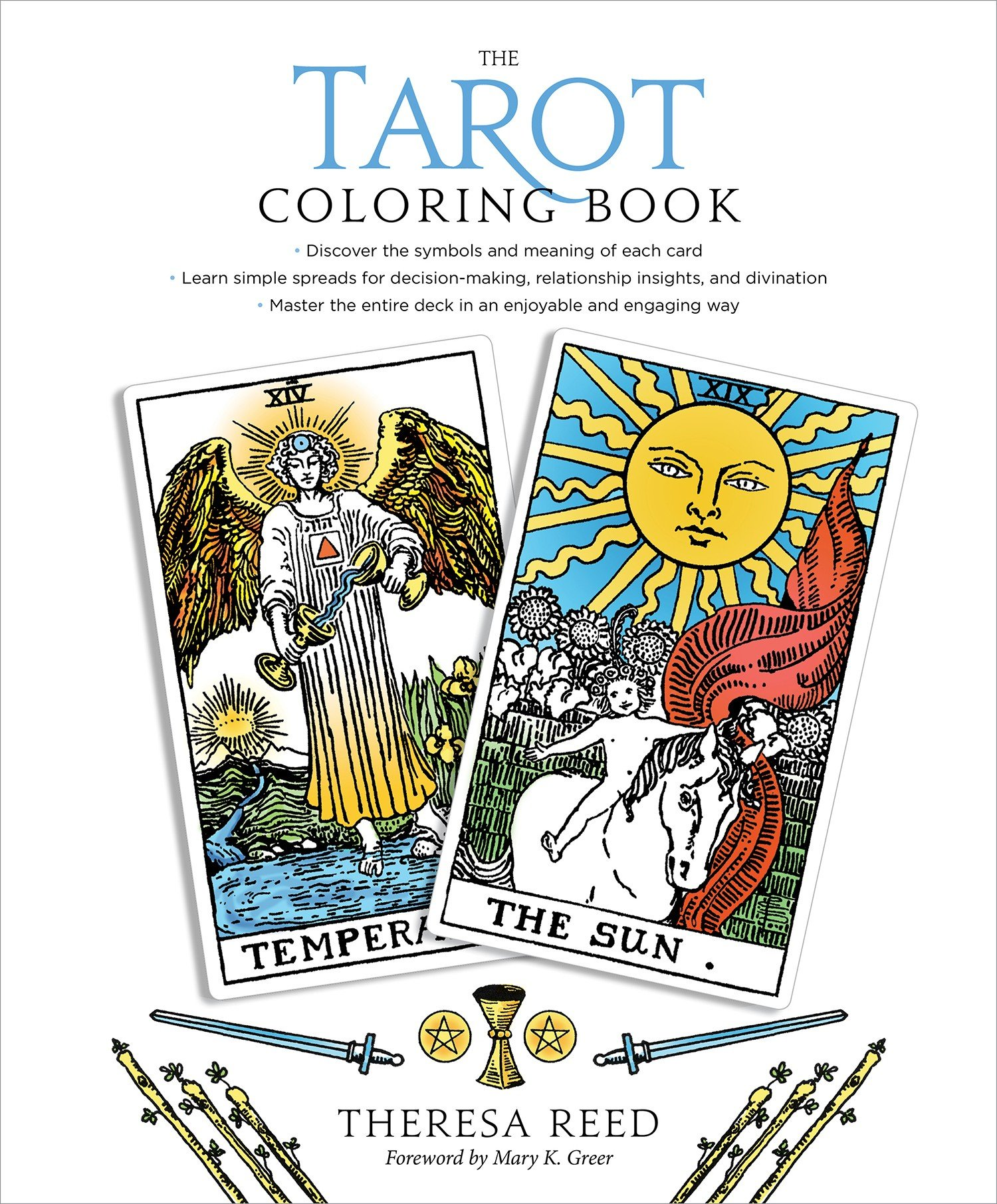 The Tarot Coloring Book: Theresa Reed, Mary K. Greer: 9781622037902:  Amazon.com: Books