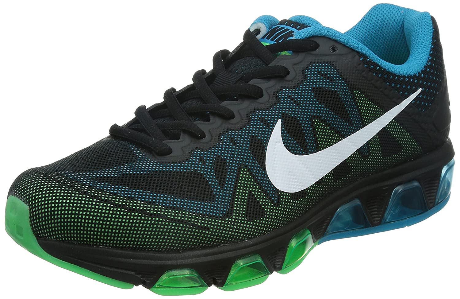 cheap for discount b9c9c 8f445 ... top quality outlet nike air max tailwind 7 men round toe synthetic  black running shoe.