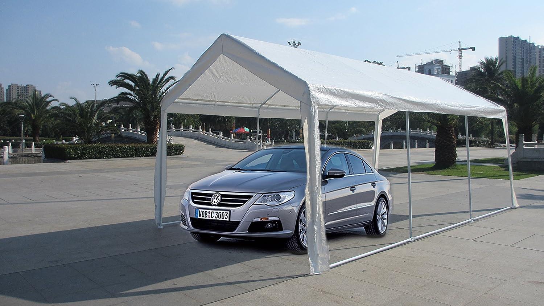 amazon com exacme white 10x20 u0027 heavy duty carport car shelter