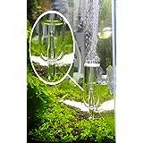 JARDLI Pollen Glass CO2 Diffuser with Bubble Counter for Aquarium Planted Tank