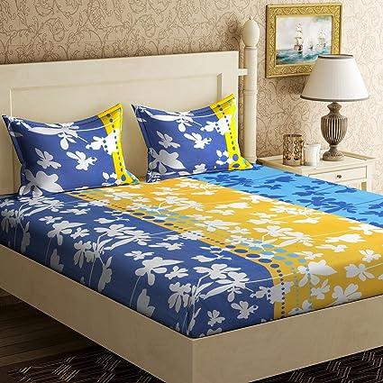 9c35465e0 Image Unavailable. Image not available for. Colour  Home Elite 124 TC Cotton  Double Bedsheet ...