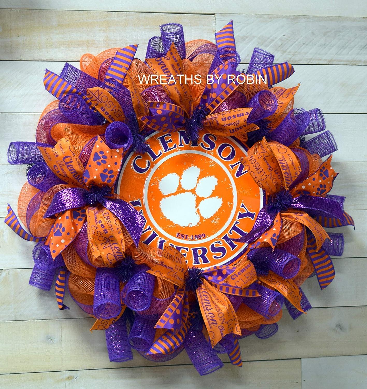 Clemson Tigers decor 3858 Clemson Sports Wreaths College sports wreath
