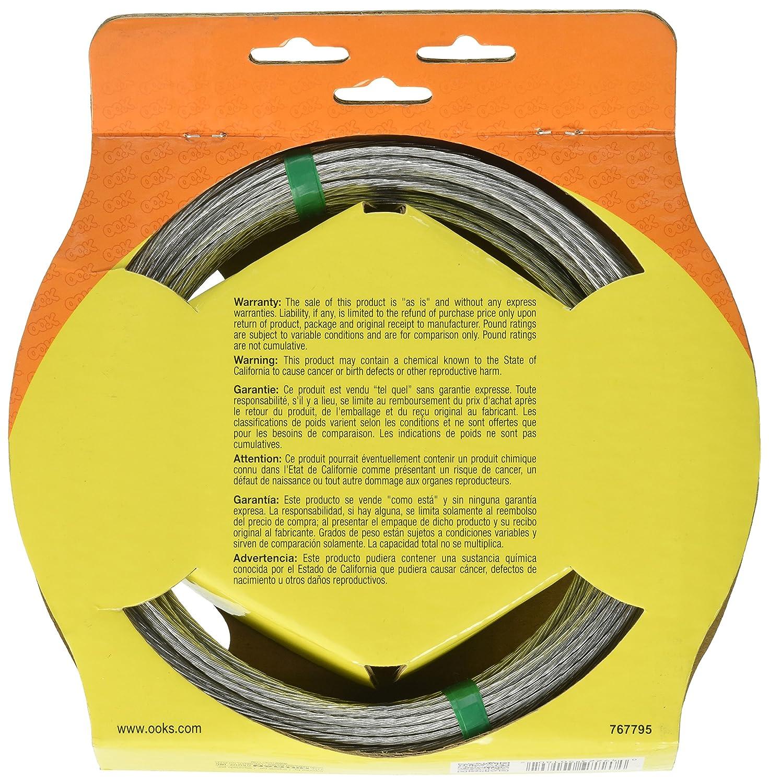 OOK 50180 100 6 Strand 20 Gauge Steel Galvanized Wire Jensen Home Improvement