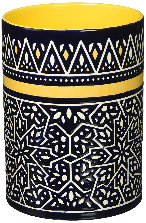 Now Designs Stoneware Utensil Crock, Medina Design (5060005) Danica Imports Ltd.