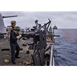 Home Comforts Laminated Poster Sailors Conduct Live-fire Exercises on The AFT-Missile Deck Guided-Missile Cruiser USS Port Royal