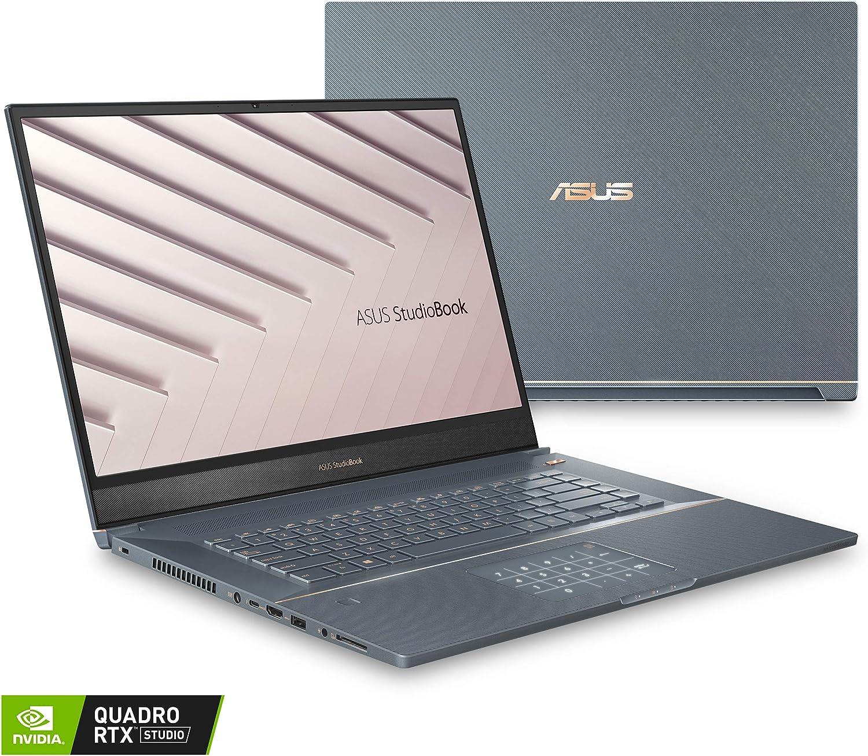 "ASUS ProArt StudioBook Pro 17 Mobile Workstation Laptop, 17"" WUXGA NanoEdge Bezel, Intel Xeon E-2276M, 32GB ECC DDR4, 2TB PCIe SSD, Nvidia Quadro RTX 3000, Windows 10 Pro, W700G3T-XH99, Turquoise Gray"