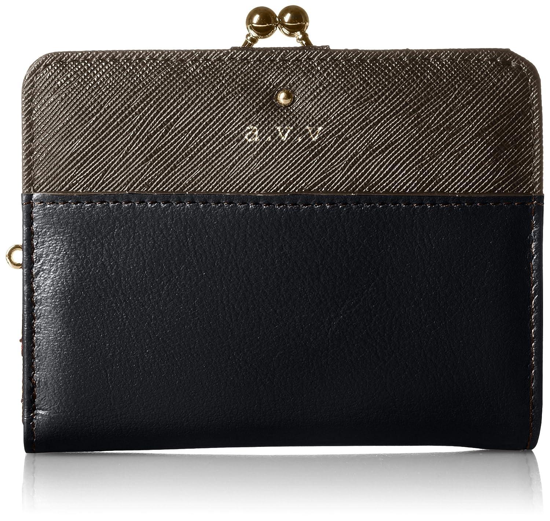 [アーベーベー] 二つ折財布  MJ5992 B01MU7IBIO ブラック ブラック