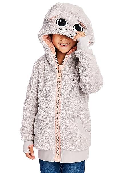 Begummy – Chaqueta con capucha para niña, peluche, diseño de ...