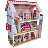 KidKraft 65054 Chelsea Doll Cottage with Furniture, 4 inches