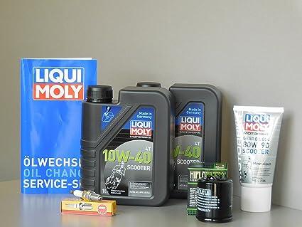 Kit de mantenimiento Vespa GT 125 GTS 125 GTV 125 Aceite de aceite getriebeöl Bujía: Amazon.es: Coche y moto