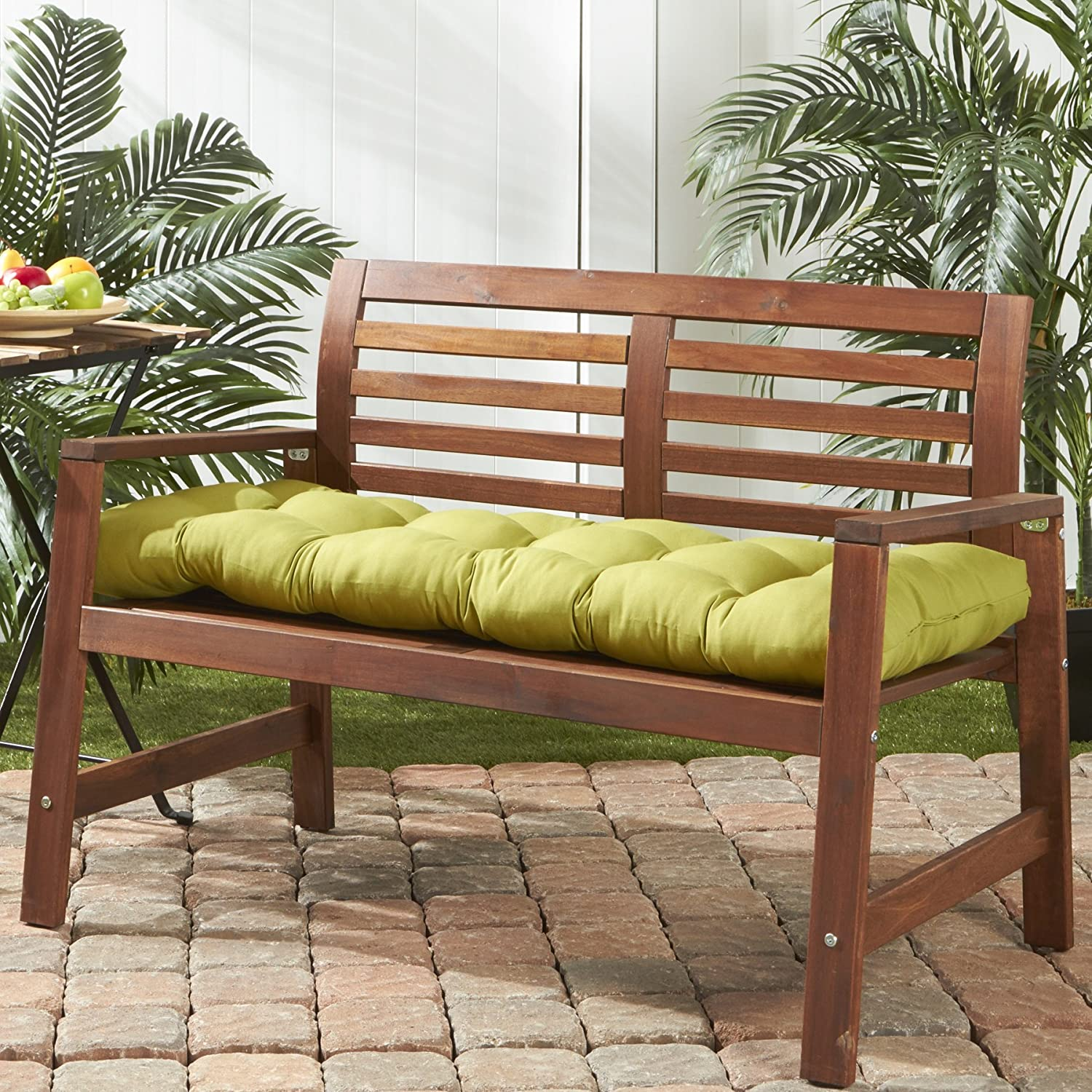 Amazon.com: Greendale Home Fashions 51 Inch Indoor/Outdoor Bench Cushion,  Kiwi: Home U0026 Kitchen