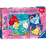 Ravensburger 9350 Disney Princess Princess Adventure Jigsaw Puzzles - 3 x 49 Pieces
