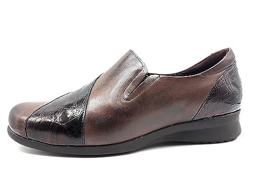 PITILLOS 2611 Mocasin Combinado Mujer Marron 40: Amazon.es: Zapatos y complementos