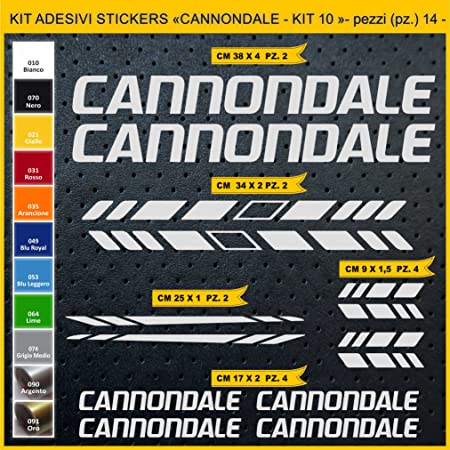 Kit Pegatinas Stickers Bicicleta Cannondale- Kit 10-14 Piezas ...