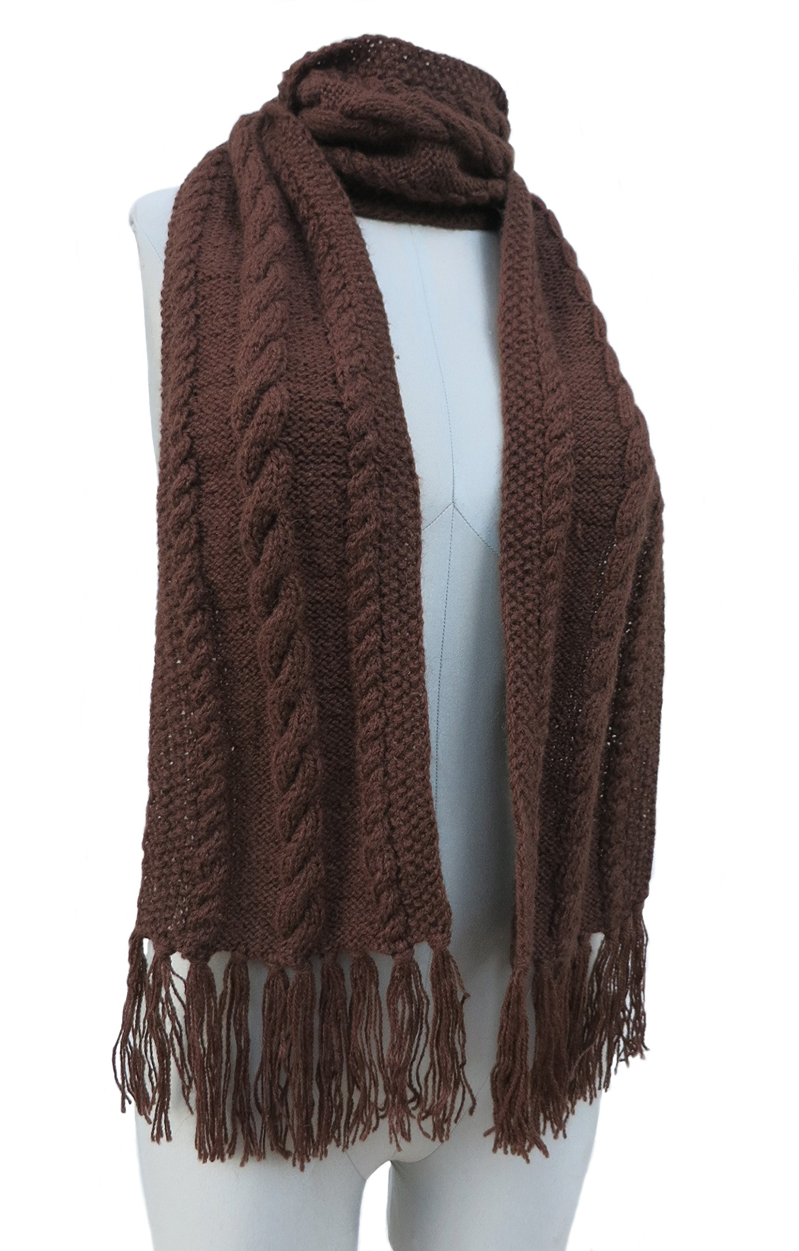 Knitted 100% by Hand Scarf - Cable Design in PURE ALPACA (CUSTOM MADE) by BARBERY Alpaca Accessories