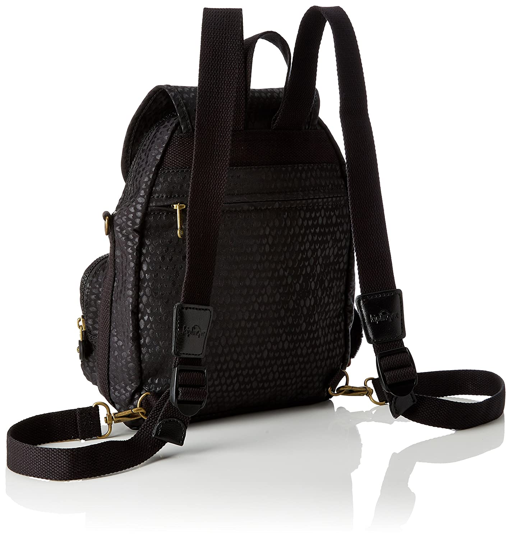 Kipling Firefly Up Medium Backpack Black Scale Emb