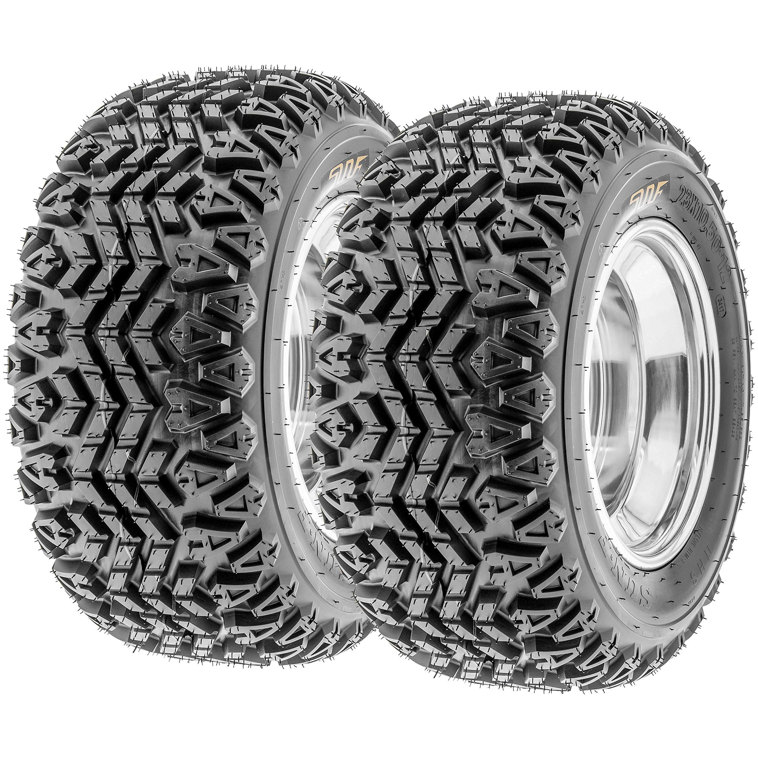 Set of 2 SunF G003 all-Terrain UTV & Golf-Cart Turf Tires 22x11-8, 4 Ply, Tubeless - Lawn & Garden by SunF