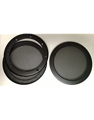 Speaker Accessories Creative 2pcs Diy 6 Inch 6.5 Inch Car Subwoofer Speaker Grill Mesh Enclosure Aluminum Woofer Net Speaker Metal Protective Cover