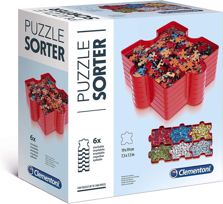 Clementoni- Pack 6 bandejas organizador Puzzle, Multicolor (37040) , color/modelo surtido