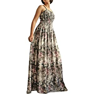 00eaf84f7a7 Women Long Maxi Plus Size Dress Summer Evening Party Wedding Boho Prom  Classic Floral Vintage Look