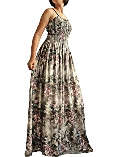 520adcc9270c Women Long Maxi Plus Size Dress Summer Evening Party Wedding Boho Prom  Classic Floral Vintage Look